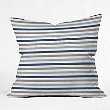 Deny Designs Little Arrow Design Co Multi Blue Stripes Throw Pillow