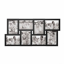 Collage Picture Frame with 8 Openings for 4x6 Photos by Lavish Home, Black