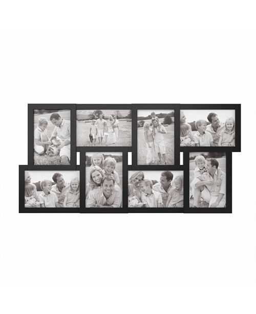 Trademark Global Collage Picture Frame with 8 Openings for 4x6 ...
