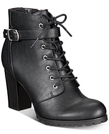 Style & Co Catye Lace-Up Ankle Booties, Created for Macy's