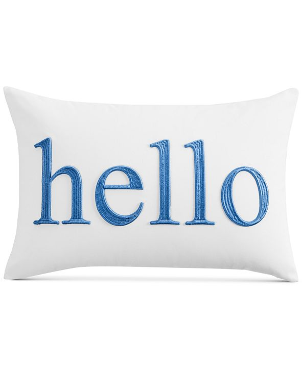 """Charter Club Word 12"""" x 18"""" Decorative Pillow, Created for Macy's"""