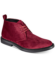 I.N.C. Men's Salem Velvet Chukka Boots, Created for Macy's