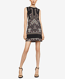 BCBGMAXAZRIA Desert Geo Colorblocked Dress