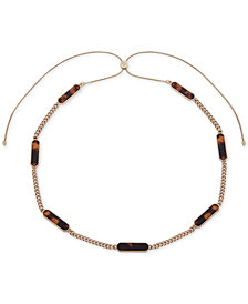 "Lauren Ralph Lauren Gold-Tone & Stone 36"" Slider Strand Necklace"
