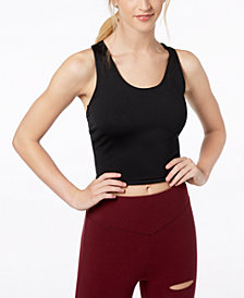 Material Girl Juniors' Twist-Back Sports Bra, Created for Macy's
