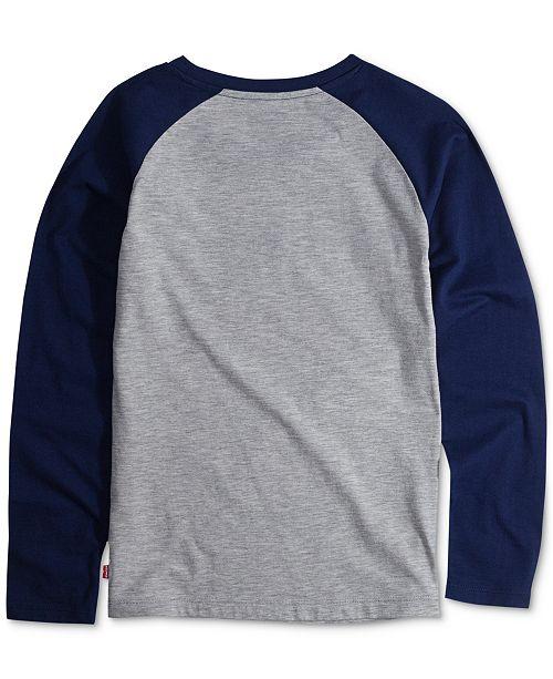 7b8364b9c Levi's Toddler Girls Long-Sleeve Cotton Raglan T-Shirt & Reviews ...
