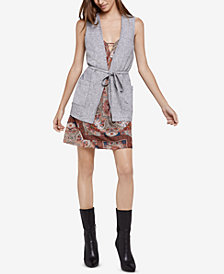 BCBGeneration Candy-Stripe Patch-Pocket Vest