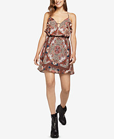 BCBGeneration Paisley Hypnosis Ruffle Dress
