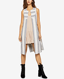BCBGeneration Striped Jacquard Long Vest