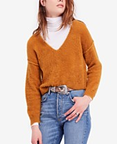 961bb5aed97e Free People Princess V Cropped Exposed-Seam Sweater