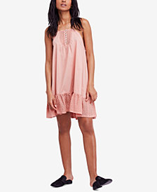 Free People Calico Cotton Trapeze Dress