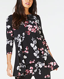 Alfani Printed High-Low Tunic, Created for Macy's