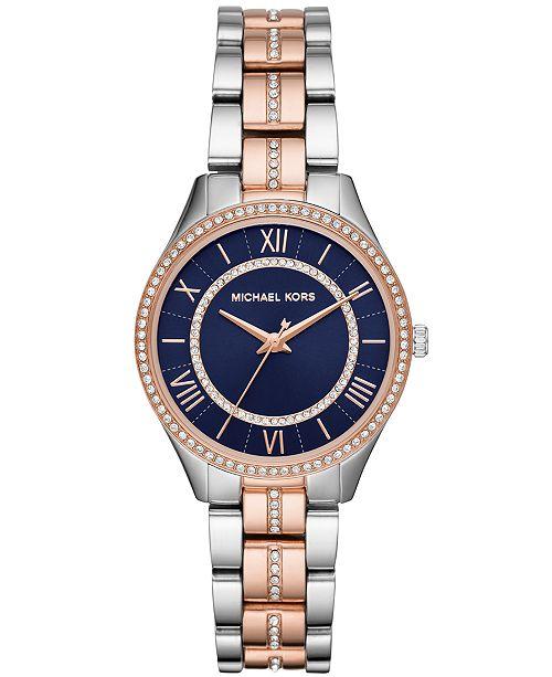 2e7775de761f ... Michael Kors Women s Mini Lauryn Two-Tone Stainless Steel Bracelet Watch  ...