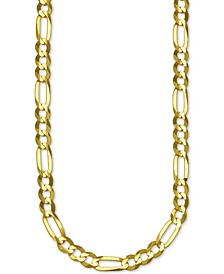 "Figaro Link 24"" Chain Necklace (6mm) in 14k Gold"