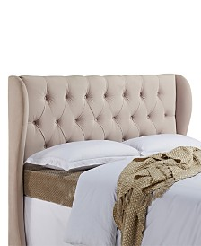 Yorkshire Wing Headboard, Full/Queen, Oyster