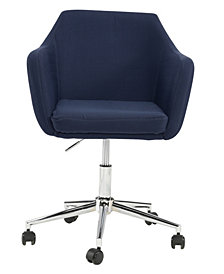 Upholstered Office Chair, Midnight