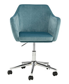 Upholstered Office Chair, Ice Blue