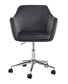 Upholstered Office Chair, Grey