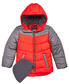 RM 1958 Toddler Boys Norris Colorblocked Hooded Jacket with Hat