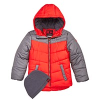 RM 1958 Toddler Boys Norris Colorblocked Hooded Jacket with Hat (Multiple Color)