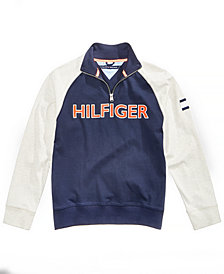 Tommy Hilfiger Big Boys Raglan Quarter-Zip Cotton Pullover