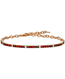 Le Vian® Ruby (1-1/3 ct. t.w.) & White Sapphire (1/5 ct. t.w.) Statement Bracelet in 14k Rose Gold
