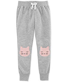 Carter's Big Girls Cat-Print Jogger Pajama Pants
