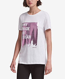 DKNY Stories Dream Graphic-Print T-Shirt, Created for Macy's