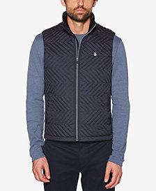 Original Penguin Men's Quilted Zig Zag Vest