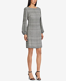 Lauren Ralph Lauren Petite Plaid A-Line Dress