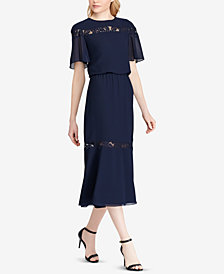 Lauren Ralph Lauren Lace-Trim Dress