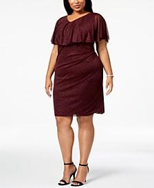 Plus Size Metallic Popover Dress