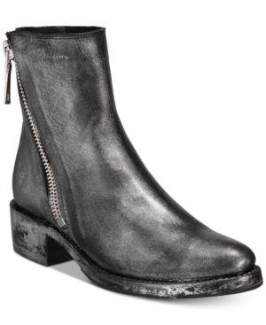Frye Demi Zippered Booties Women's Shoes 6691321
