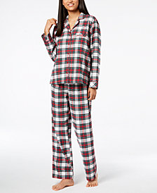matching family pajamas womens stewart plaid pajama set created for macys - Maternity Christmas Pajamas