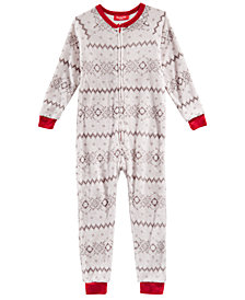Matching Family Pajamas Winter Fairisle One-Piece, Available in Toddler and Kids, Created for Macy's