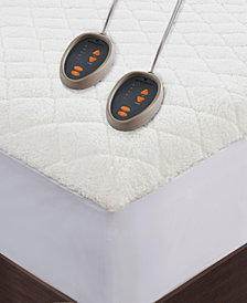 JLA Home Woolrich Heated Sherpa Mattress Pad Collection
