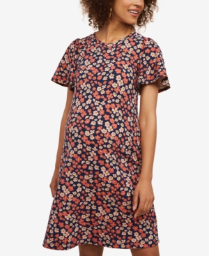 Vintage Style Maternity Clothes Motherhood Maternity Flutter-Sleeve Dress $24.97 AT vintagedancer.com