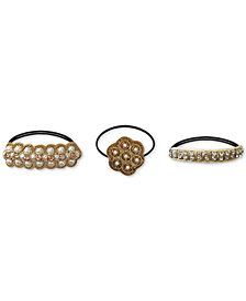Deepa 3-Pc. Set Imitation Pearl-Embellished Hair Ties