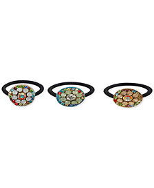 Deepa 3-Pc. Set Multicolored Embellished Hair Ties