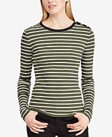 Lauren Ralph Lauren Striped Stretch Top