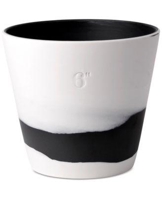 """Burlington Black & White Pot 6"""""""