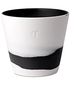 Wedgwood Burlington Black & White Pot 6""