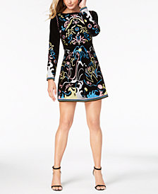 foxiedox Velvet Embroidered Mini Dress