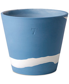Wedgwood Burlington  Blue & White Pot 7""