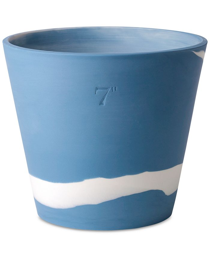 "Wedgwood - Burlington Blue & White Pot 7"""