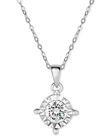 Trumiracle® Diamond Pendant Necklace (1 ct. t.w.) in 14k White Gold
