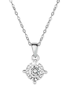 Diamond Pendant Necklace (5/8 ct. t.w.) in 14k White Gold