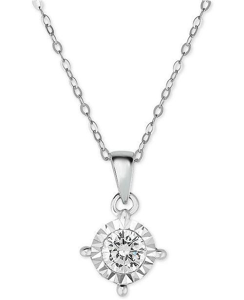 TruMiracle Diamond Pendant Necklace (5/8 ct. t.w.) in 14k White Gold