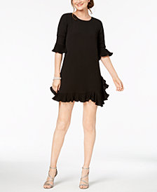 MSK Petite Ruffled A-Line Dress