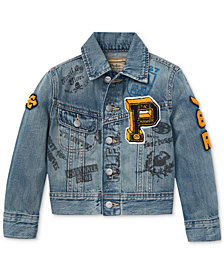 Polo Ralph Lauren Toddler Boys Denim Cotton Graphic Trucker Jacket